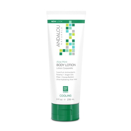 Andalou Naturals Cooling Body Lotion, Aloe Mint, 8