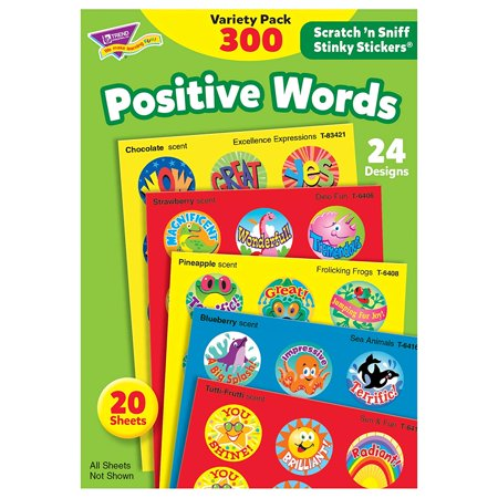 TREND enterprises, Inc. Positive Words Stinky Stickers Variety Pack, 300 ct, Everyone's favorite for decades, Stinky Stickers are fun to collect, or use to motivate.., By Trend Enterprises Inc - Fun Favorites Stinky Stickers