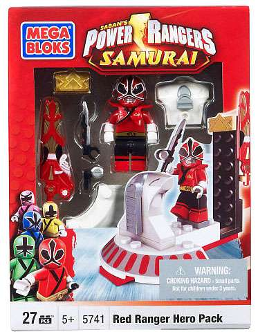 Power Rangers Samurai Red Hero Pack Set Mega Bloks 5741 by