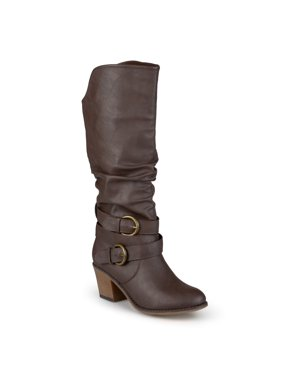 Women's Slouch Buckle High Heel Boots