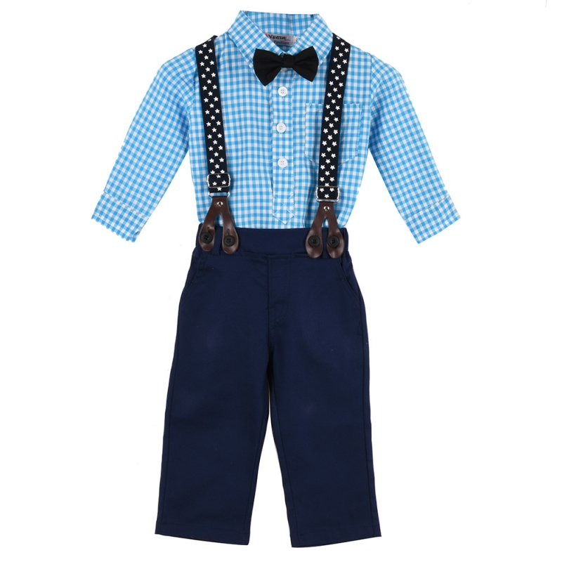 Kacakid 2pcs Newborn Infant Baby Boy Girls Clothes T-shirt Tops+Pants Outfits Set 0-24M