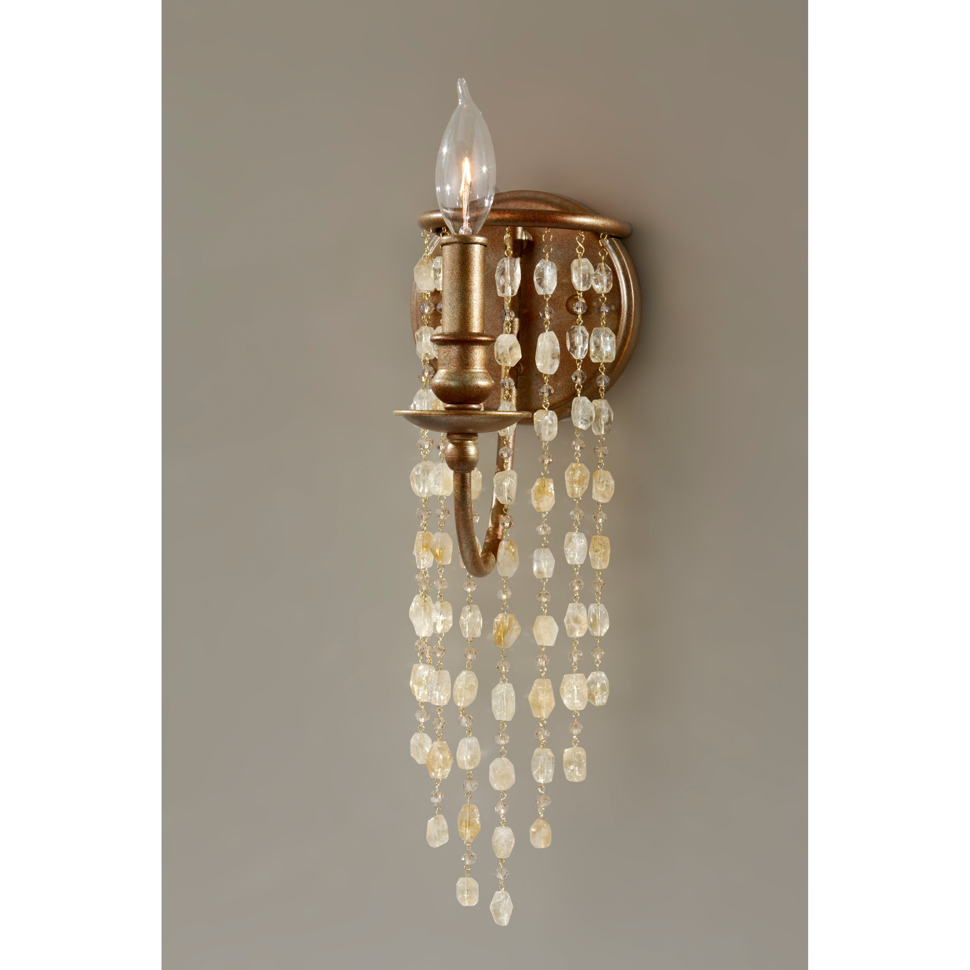 Feiss Aura WB1588RUS Sconce 5.13W in. Rustic Silver by Murray Feiss