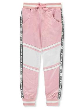 Pink Velvet Girls' Tricot Joggers