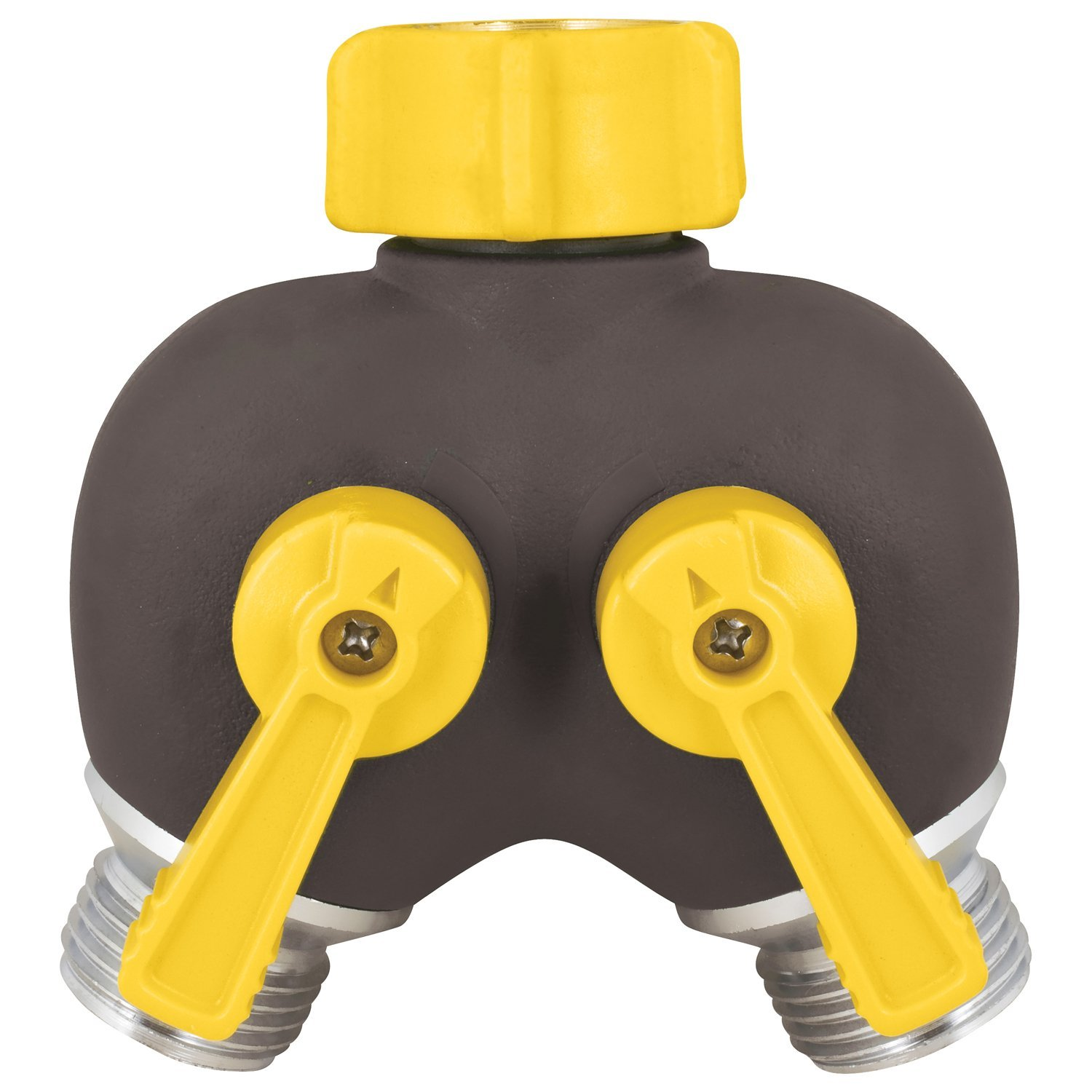 2-Way Hose Valve, Free-spinning coupling nut By Melnor