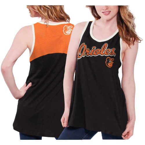 Baltimore Orioles Women's Circus Catch Loose Fit Tank Top - Black