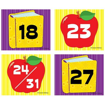 Carson Dellosa CD-112551 Apple Book Calendar Cover (Calendar Cover Ups Flowers)