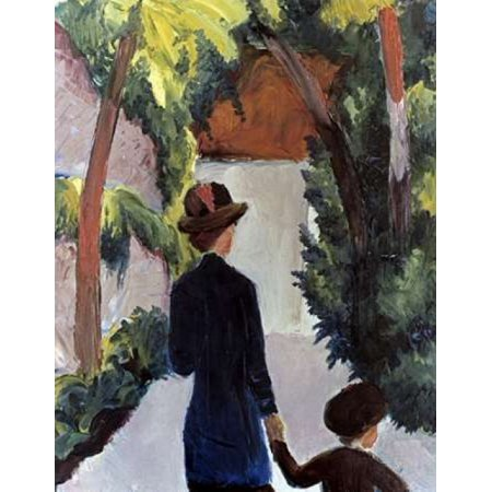 Mother and Child in the Park Poster Print by August Macke