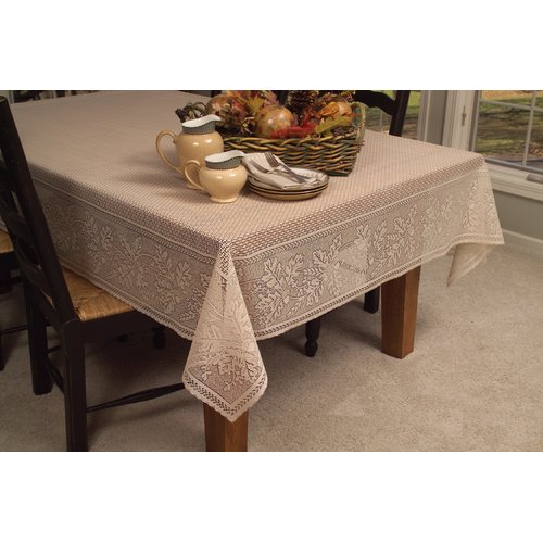 Heritage Lace Oak Leaf Round Tablecloth