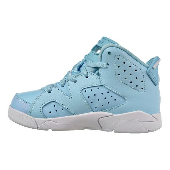 7bd7a6d2e09b0b Kids Air Jordan Retro 6 VI PS Pantone Still Blue White 543389-407 -  Walmart.com