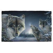 Wild Wings Midnight Wolves 2 Bath Towel White 27X52