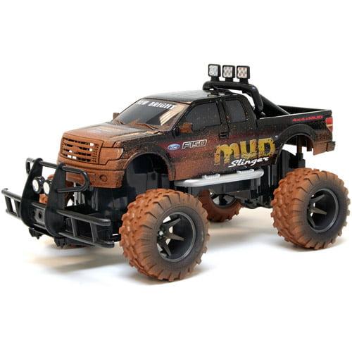 "New Bright 11-1/2"" R/C Mud Slinger Ford F-150"