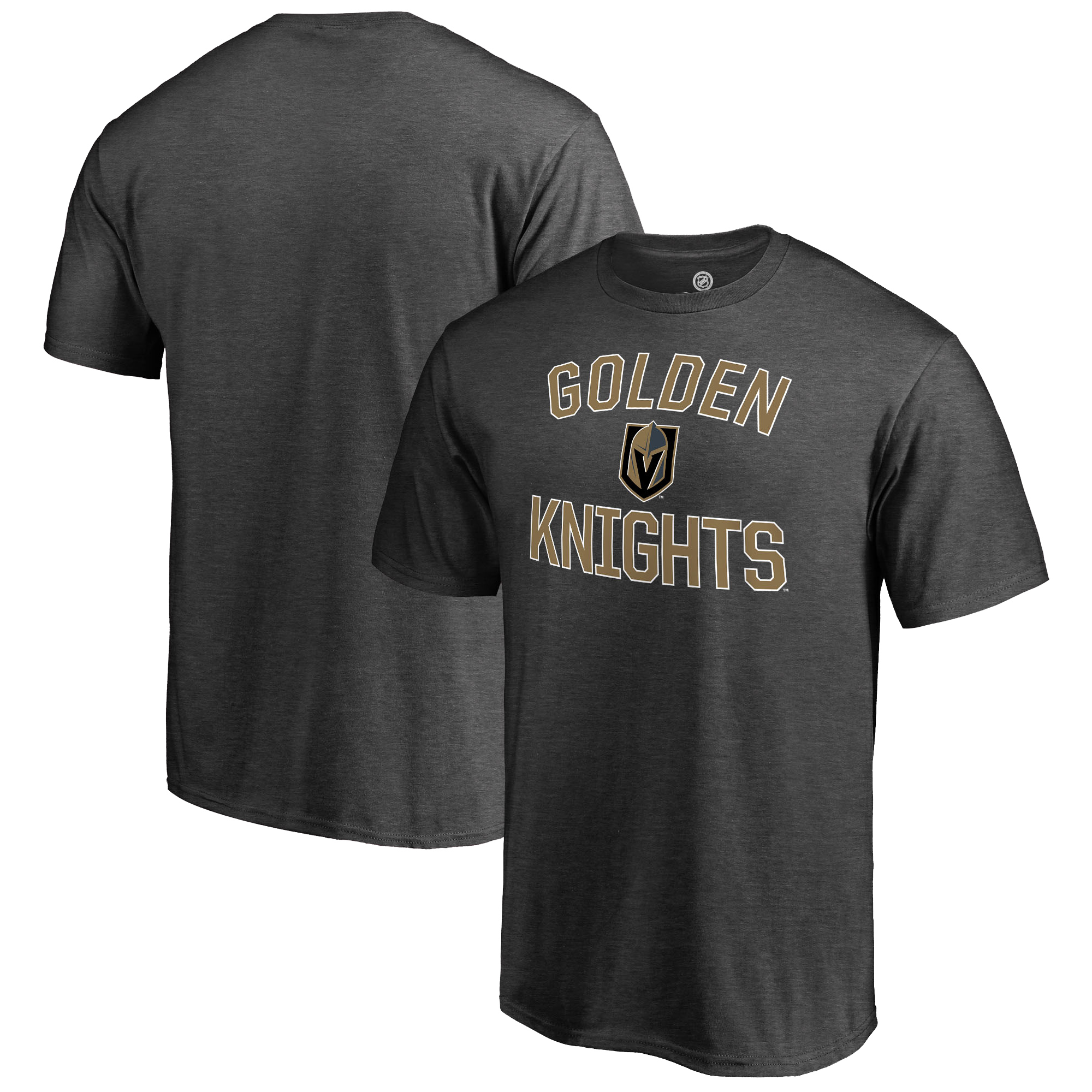 Vegas Golden Knights Fanatics Branded Victory Arch T-Shirt - Heathered Gray