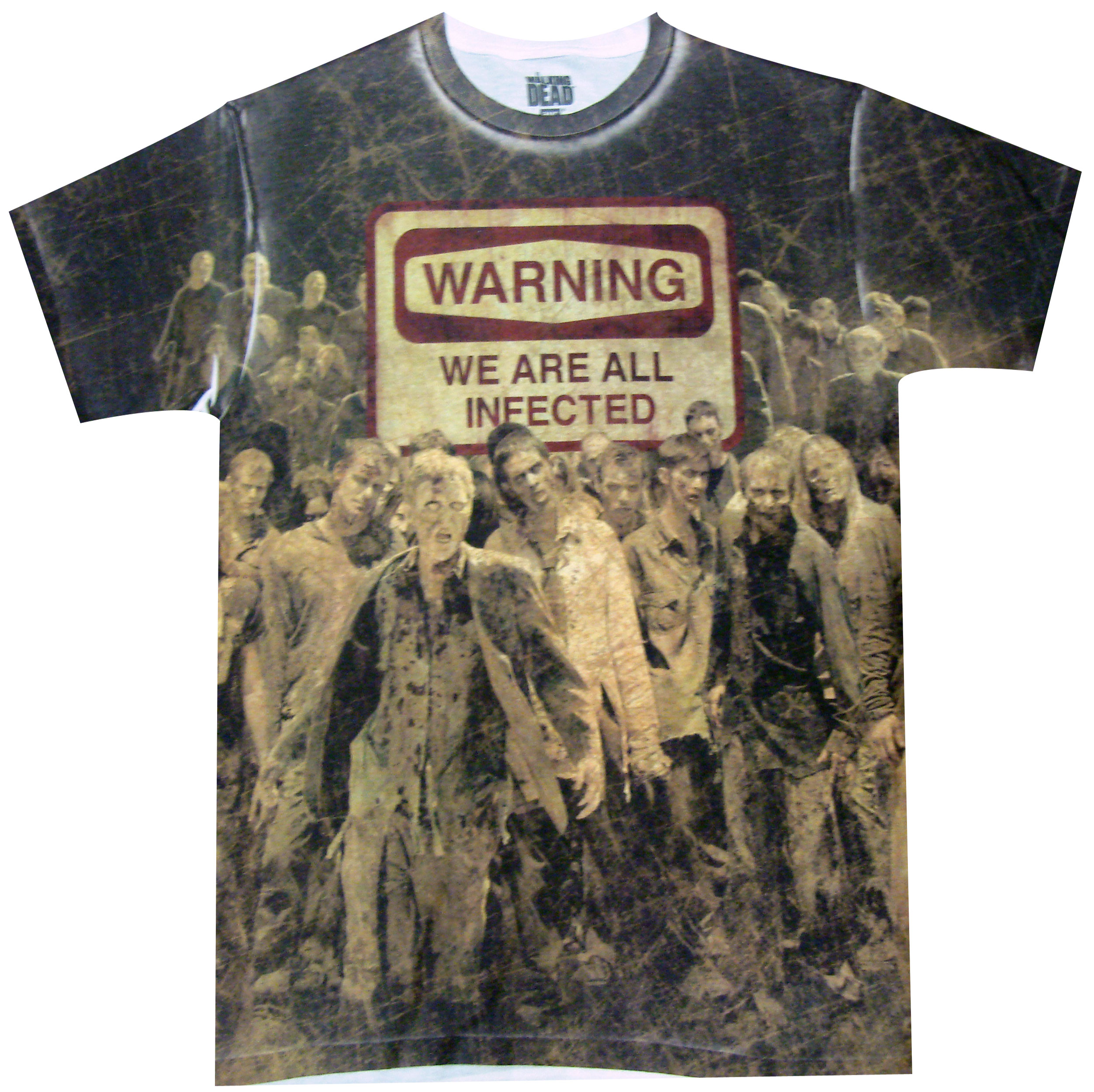AMC The Walking DeadWarning We Are All Infected 2-Fold Wallet