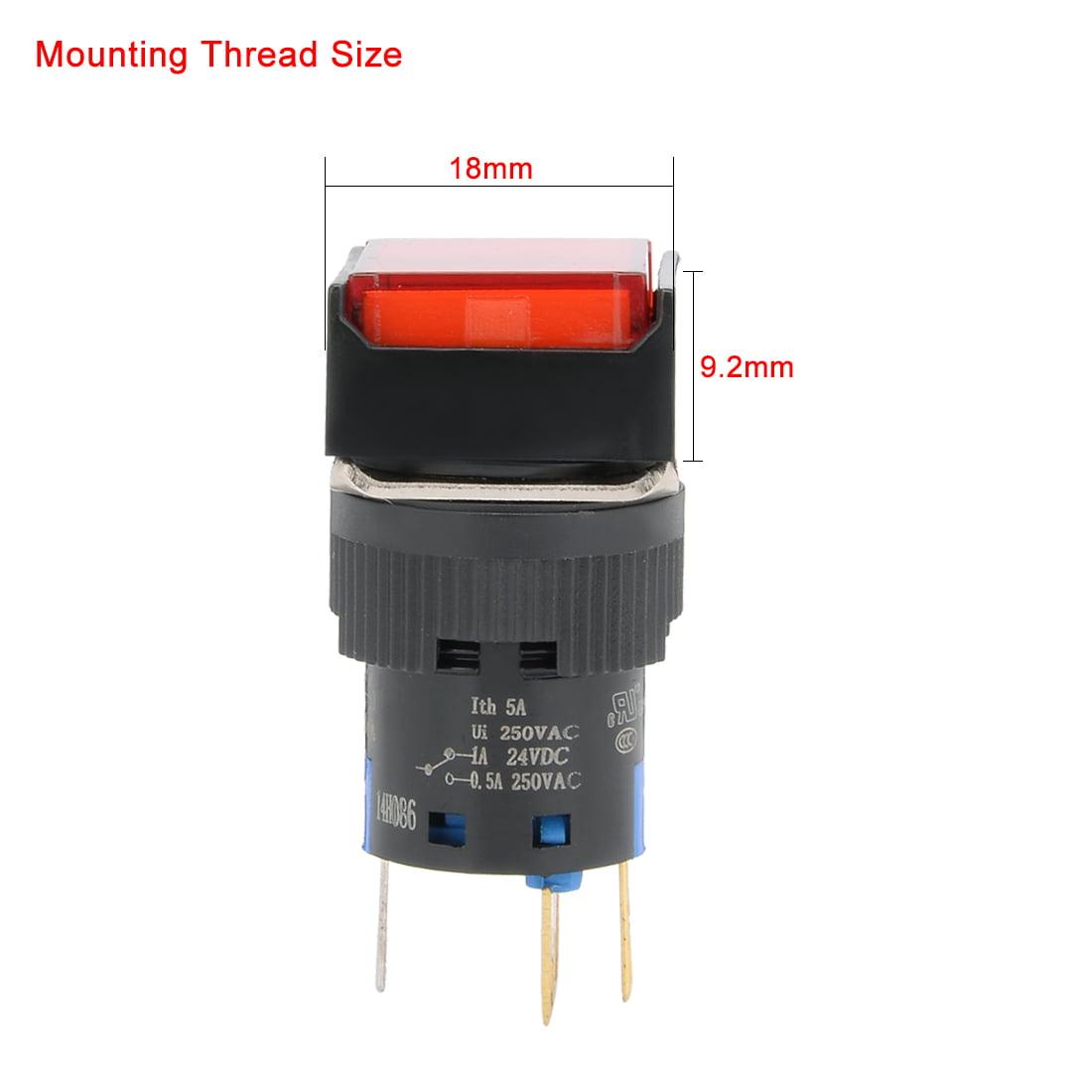 Unique Bargains 3pcs Ac 250v 5a Spdt Latching Pushbutton Switch Red Cool Electronics Circuits A Push Button Qty
