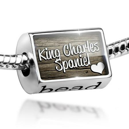 Bead King Charles Spaniel, Dog Breed England Charm Fits All European Bracelets