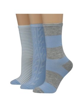 611f5a4e875 Product Image Hanes 038257708356 Womens Assorted Giftable Blue Depth    Active Grey Heather Crew Socks - 5 to