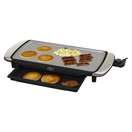 Oster Titanium Infused DuraCeramic 10 x 20 Electric Griddle w/ Warming Tray