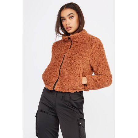 Urban Planet Women's Teddy Bomber Jacket - image 2 of 2