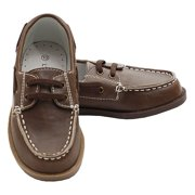 Brown Synthetic Top Stitch Casual Loafer Deck Shoes Little Boys 7-4