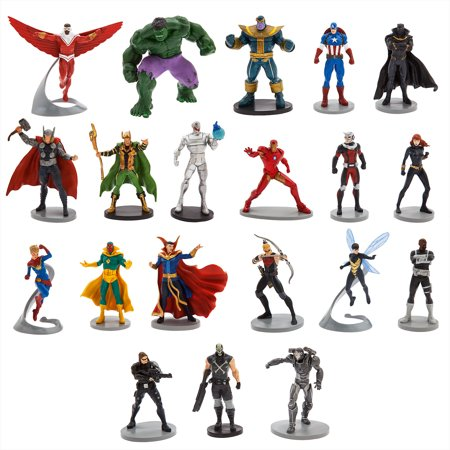 Avengers Mega Figurine: Captain America-Iron Man-Winter Soldier-War Machine-Falcon-Black Panther-Hawkeye-Vision-Ant-Man-Ultron-Dr Strange-Loki-Hulk-Nick Fury-Thor-Captain