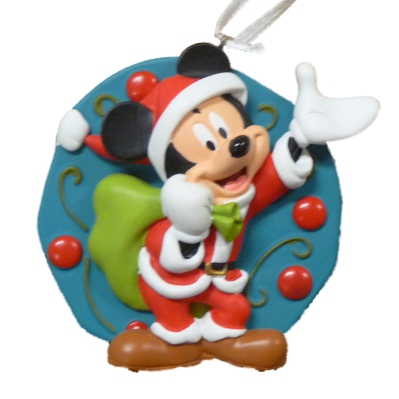 Disney Mickey Mouse as Santa Claus Light Up Christmas Ornament