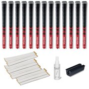 Golf Pride New Decade Multicompound (MCC) 0.600 Red - 13 pc Golf Grip Kit (with tape, solvent, vise clamp)