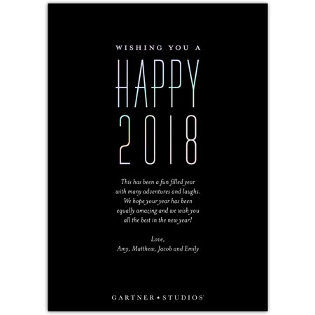 Best Iridescent New Year - 5x7 Personalized New Year Card deal