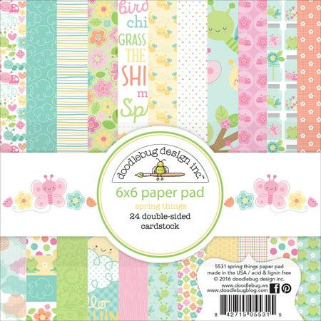Doodlebug Spring Things Paper Pad 6x6