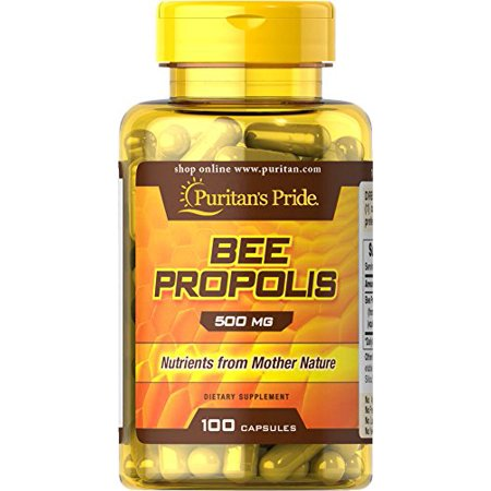 - Puritan's Pride 1 Pack of Bee Propolis 500 mg 100-Capsules