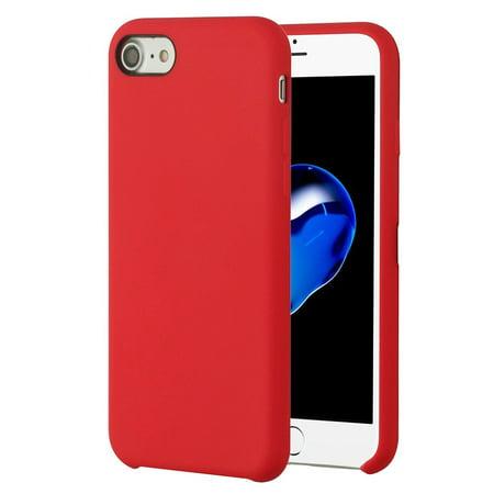 custodia silicone apple iphone 7 red