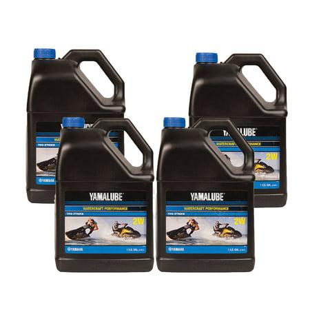 Yamaha Yamalube PWC WaveRunner CASE 4 GALLONS 2 Stroke Oil LUB-2STRK-W1-04 ()