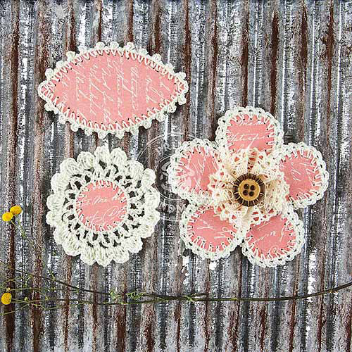 "Pensacola Fabric and Paper Flowers, 2.25"" To 3"", 3pk"