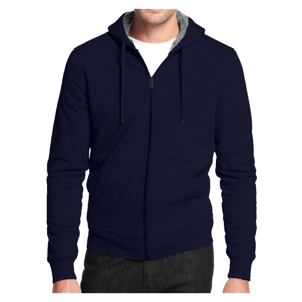 Alta Men's Hoodie Zip Up Jacket Sherpa Lined Sweater
