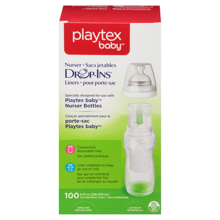 Playtex Baby Drop-ins Liners For Playtex Baby Nurser Bottles 8-10 oz 100 ct