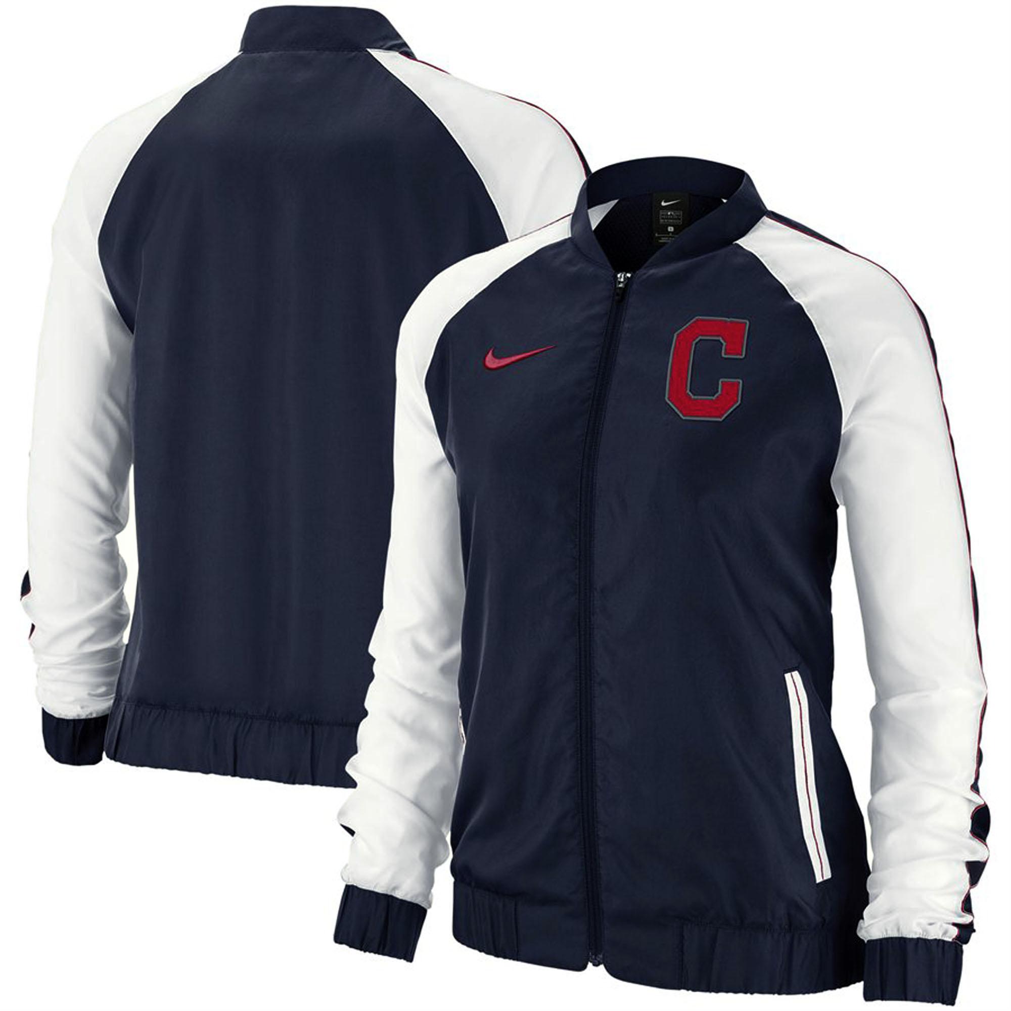 Cleveland Indians Nike Women's Varsity Full-Zip Jacket - Navy