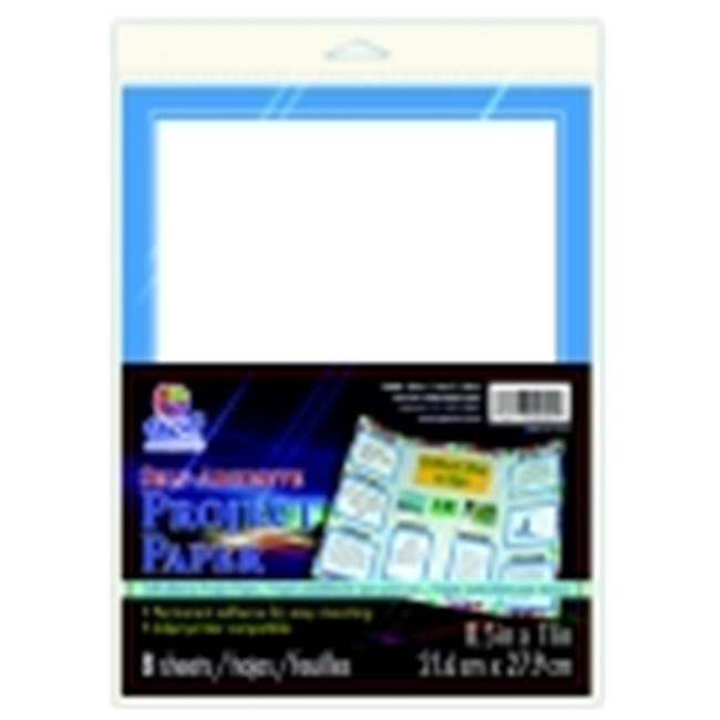 Pacon Self-Adhesive Project Paper - 8.5 x 11 in. - Black, Pack 8