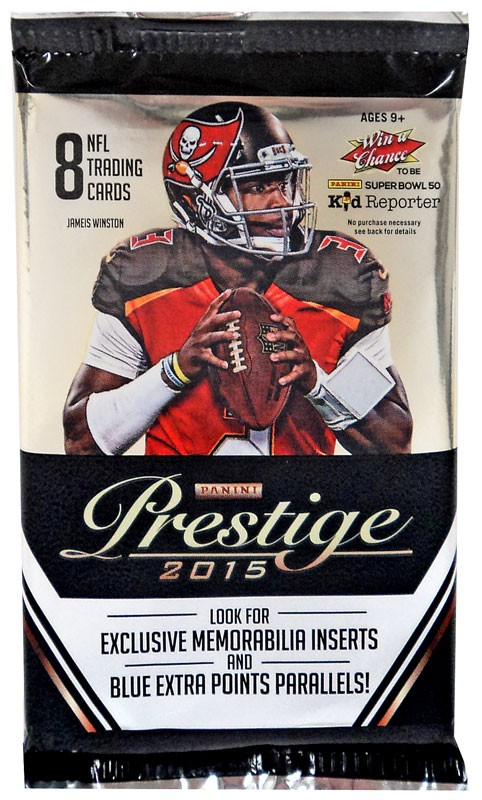 NFL 2015 Panini Prestige Football Trading Card Pack by