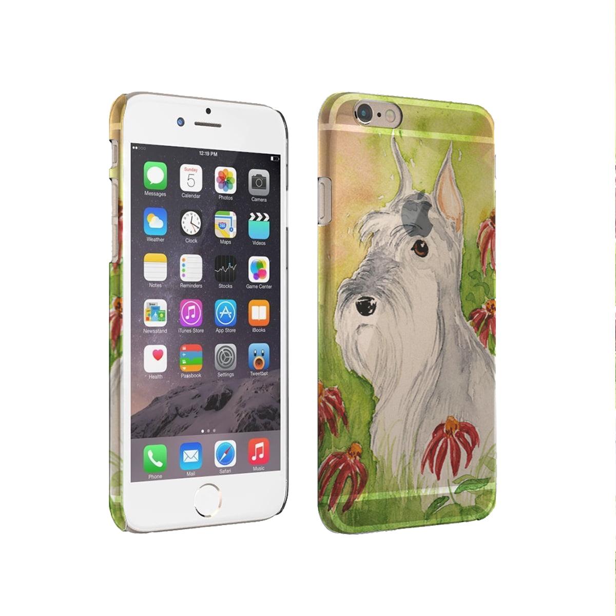 KuzmarK iPhone 6 Plus Clear Cover Case - Miniature Schnauzer Art by Denise Every