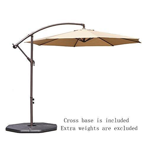le papillon 10-ft offset hanging patio umbrella aluminum outdoor Base for 10 Ft Umbrella