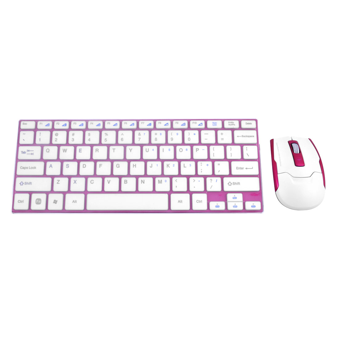 Ultra Slim 2.4G Wireless Keyboard Rose Red for Computer Tablet w Optical Mouse