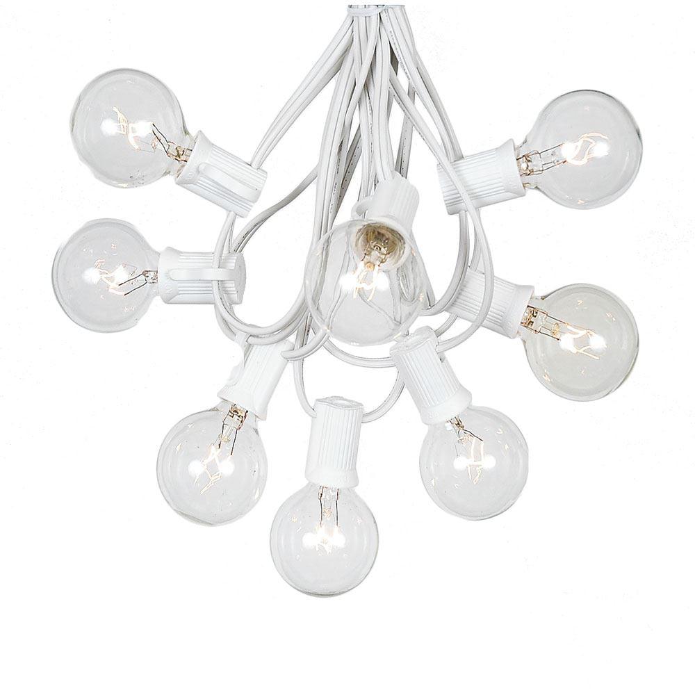 G40 Globe String Lights With 125 Clear Globe Bulbs