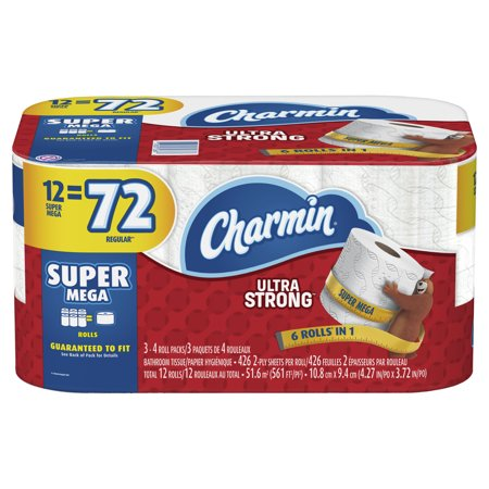 Charmin Ultra Strong Toilet Paper 12 Super Mega Roll
