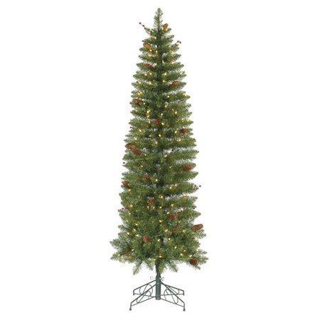 vickerman salinas pencil pre lit christmas tree 6 5 ft. Black Bedroom Furniture Sets. Home Design Ideas