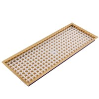 """14 7 8"""" Flanged Mount Drip Tray Brass Finish With Drain by Drip Trays"""