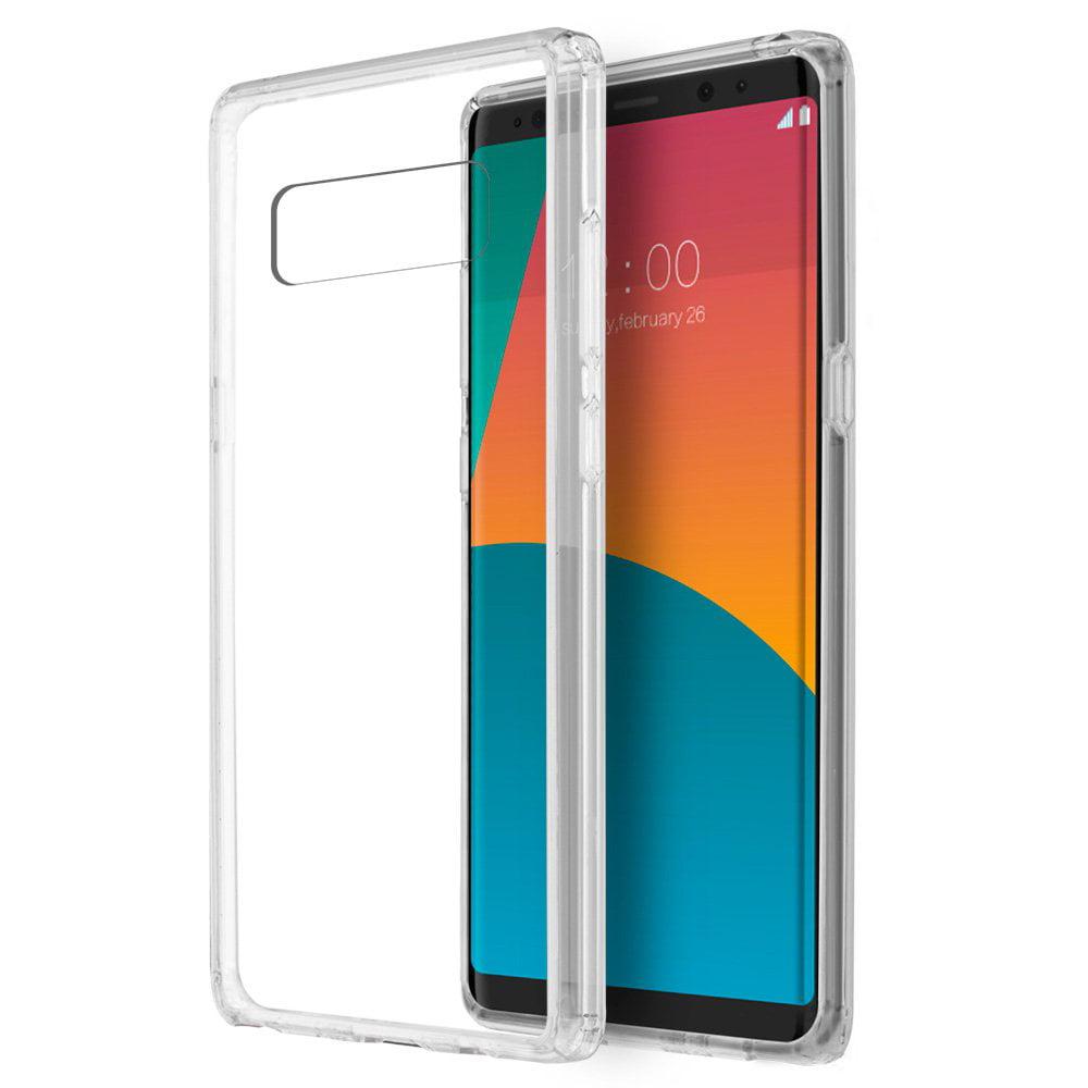 Samsung Galaxy Case,Premium Luxury Soft Slim Flexible TPU Transparent Cover for Samsung Galaxy Note 8 - Clear,Raised Bezels, Slim, ShockProof