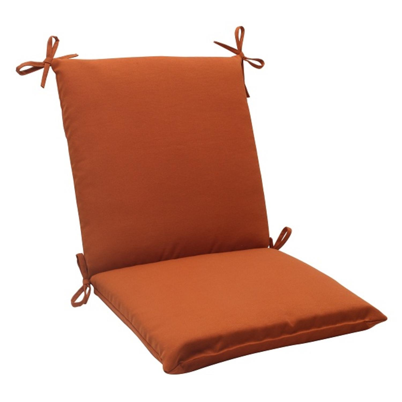 "36.5"" Cinnamon Burnt Orange Outdoor Patio Square Chair Cushion"