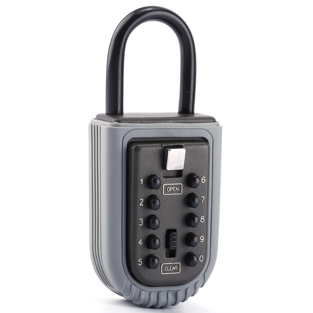 Yosoo Portable Zinc Padlock Hide Keys Hang Door 10 Digits