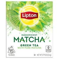 (2 pack) Lipton Green Tea Pure Matcha, Tea Bags, 15 Ct