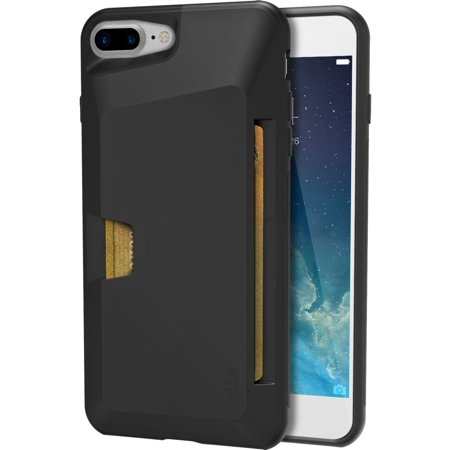 pretty nice b6471 b027e Silk iPhone 7 Plus / 8 Plus Wallet Case - Wallet Slayer Vol.1 [Slim +  Protective + Grip] Credit Card Holder for Apple iPhone 8 Plus /7 Plus -  Black ...