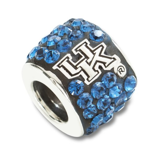 University of Kentucky S/S UNIV OF KENTUCKY WILDCAT PREMIER CRYSTAL BEAD CHARM